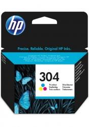 HP Nr.304 (N9K05AE) eredeti színes tintapatron, ~100 oldal