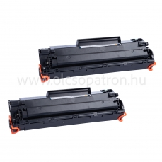 HP CB435A (35a) 2db fekete prémium utángyártott toner 2x2000 oldal
