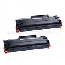 HP CE285A (85a) 2db fekete prémium utángyártott toner 2x2000 oldal